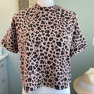 Walter Baker animal print crop